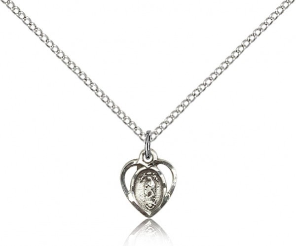 Petite Our Lady of La Salette Medal - Sterling Silver