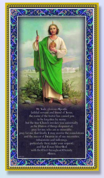 St. Jude Italian Prayer Plaque - Multi-Color