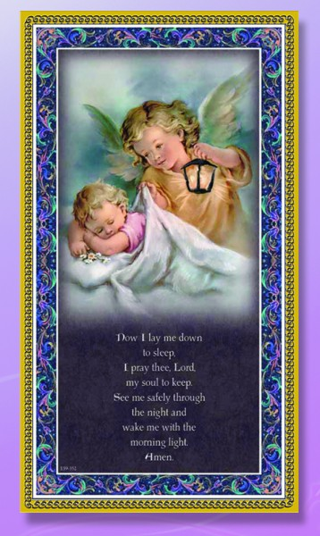 Now I Lay Me Down To Sleep Italian Prayer Plaque - Multi-Color