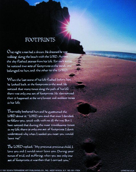 Footprints Print - Sold in 3 per pack - Multi-Color