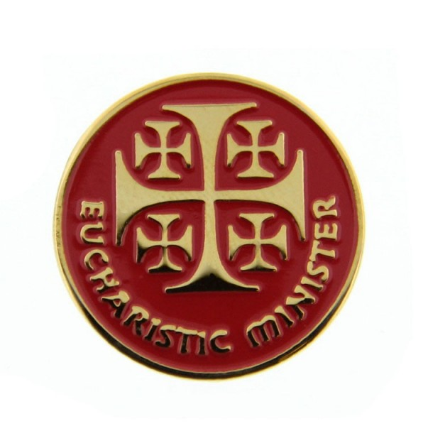 Eucharistic Minister Lapel Pin - Red