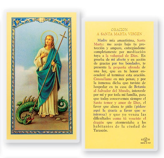 Orcaion A Santa Marta Virgin Laminated Spanish Prayer Cards 25 Pack - Full Color