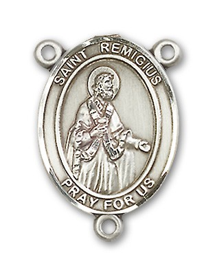 St. Remigius of Reims Rosary Centerpiece Sterling Silver or Pewter - Sterling Silver