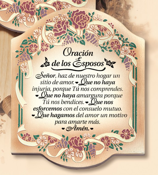 Oracion de los Esposos Wall Plaque - Multi-Color