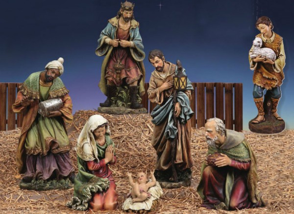 "Church Size Nativity Set 39"" Scale - Multi-Color"