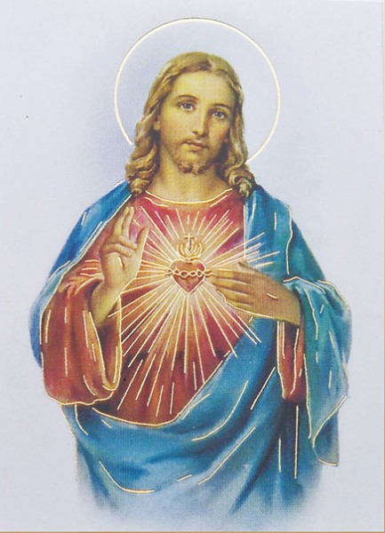 Sacred Heart of Jesus Print  - 3 Pack - Multi-Color