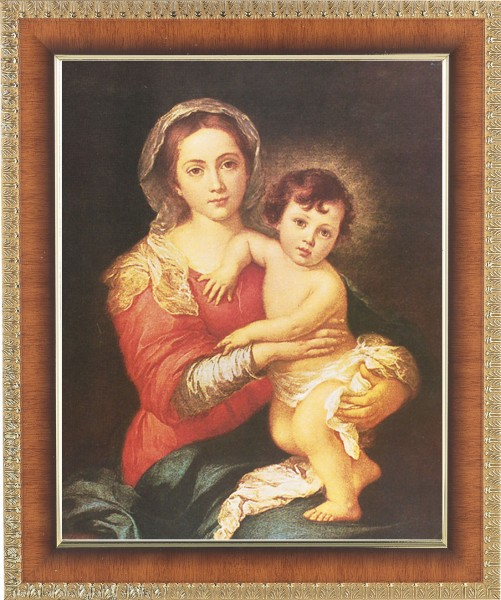 Madonna and Toddler Jesus Framed Print - #122 Frame