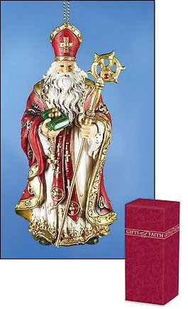 St. Nicholas Ornament - 4 per order   - Multi-Color