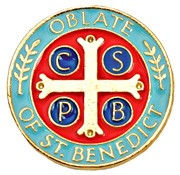 Oblate of St. Benedict Lapel Pin - Gold Tone