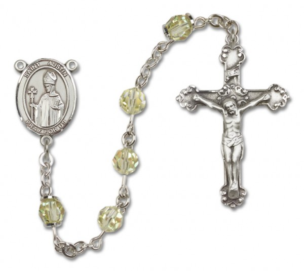 St. Austin Sterling Silver Heirloom Rosary Fancy Crucifix - Jonquil