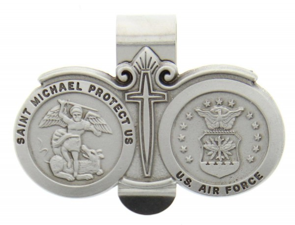 St. Michael U.S. Air Force Visor Clip Pewter - Silver