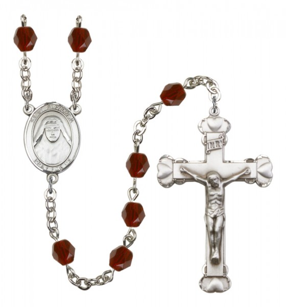 Women's St. Alphonsa of India Birthstone Rosary - Garnet
