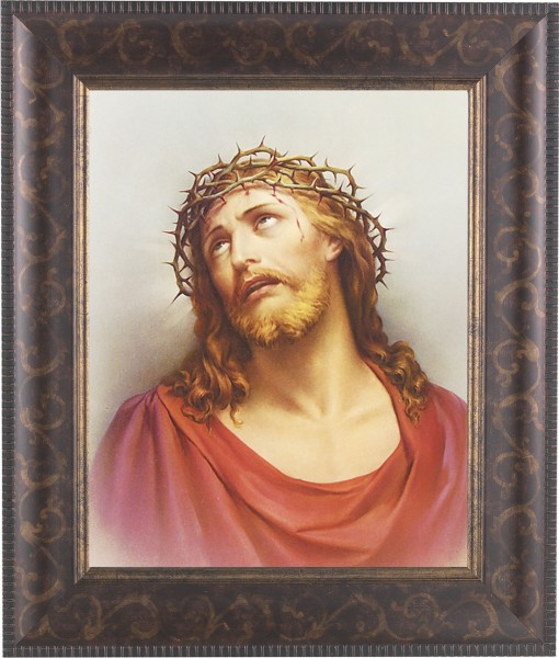 Christ Head of Thorns Framed Print - #124 Frame