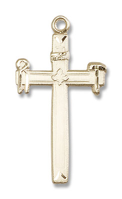 Carpenter Cross Pendant - 14K Solid Gold