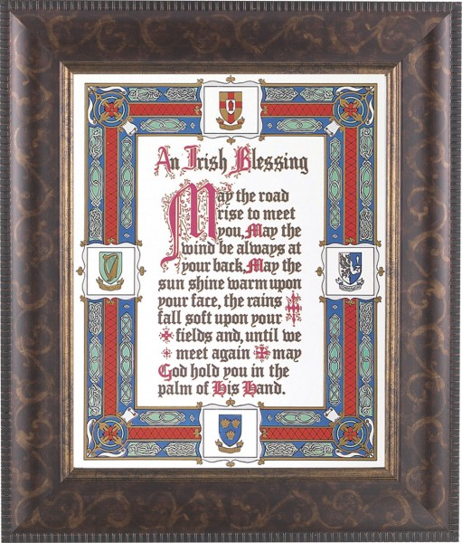 An Irish Blessing Framed Print - #124 Frame
