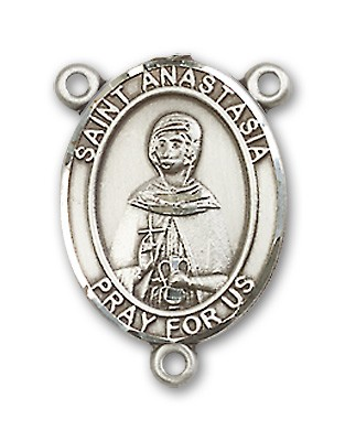 St. Anastasia Rosary Centerpiece Sterling Silver or Pewter - Sterling Silver