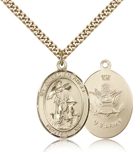 Guardian Angel Army Medal - 14KT Gold Filled