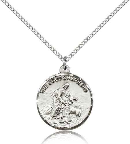 Good Shepherd Medal - Sterling Silver