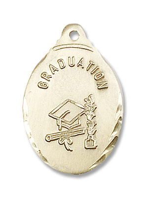 Women's Graduation Necklace - 14K Yellow Gold