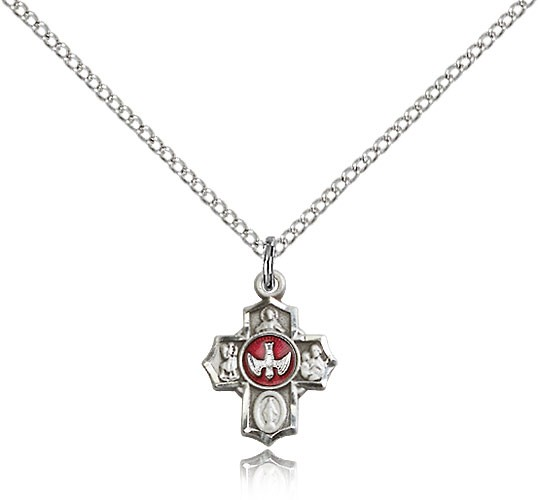 Child's Petite 5-Way Pendant - Silver | Red