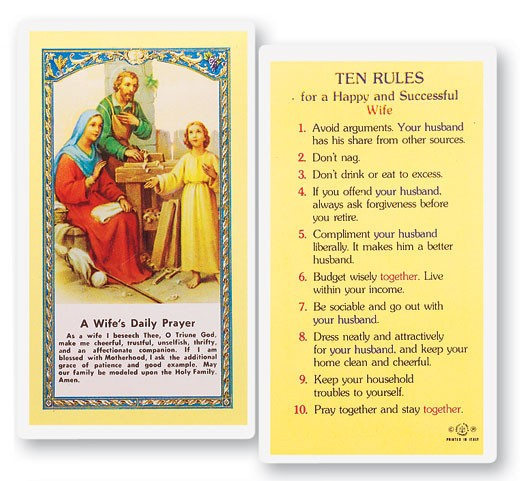 A Wife's Daily Laminated Prayer Cards 25 Pack - Full Color
