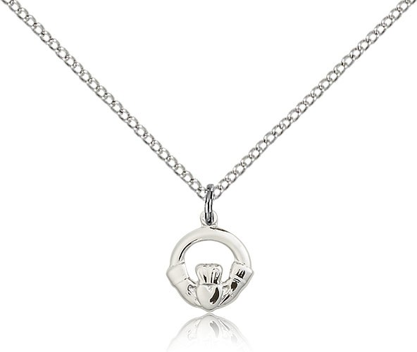 Child's Open Cut Claddagh Pendant - Sterling Silver
