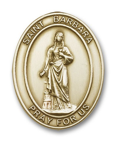 St. Barbara Visor Clip - Antique Gold