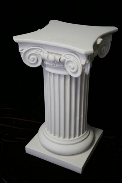 Classic Roman Pedestal Column White 33 Inch