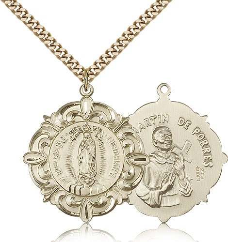 Our Lady of Guadalupe Medal - 14KT Gold Filled