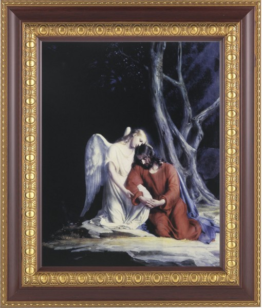 Agony in the Garden Jesus and Angel Framed Print - #126 Frame