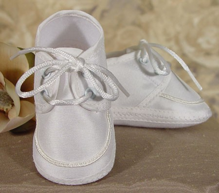 Boys Silk Dupioni Shoe - White