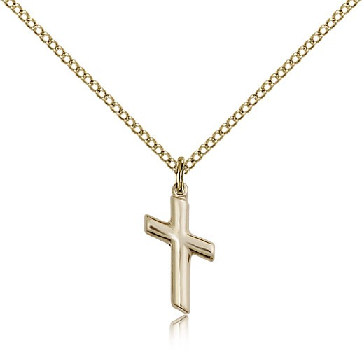 Women's Portate Cross Medal - 14KT Gold Filled