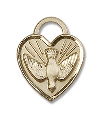 Confirmation Heart Pendant - 14K Solid Gold