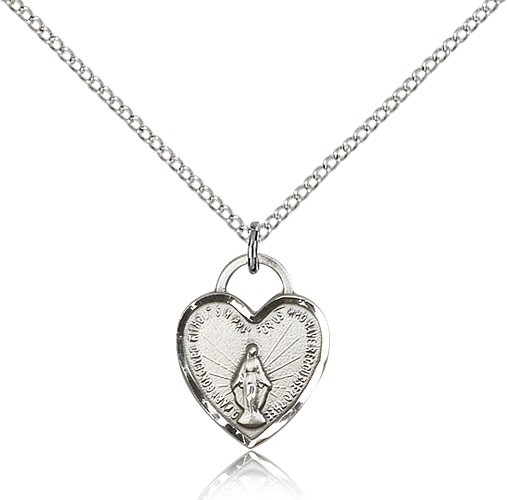 Miraculous Heart Pendant - Sterling Silver