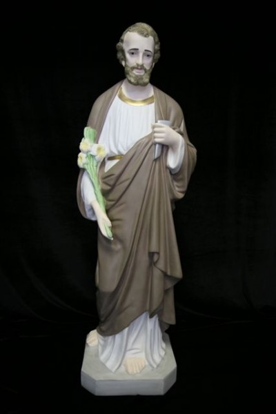 Saint Joseph the Worker Statue Hand Painted - 40 inch - Multi-Color