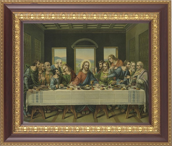 Last Supper Framed Print - #126 Frame