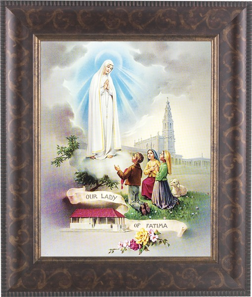 Our Lady of Fatima Framed Print - #124 Frame