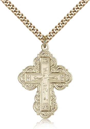 Irene Cross Medal - 14KT Gold Filled