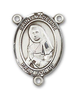 St. Madeline Sophie Barat Rosary Centerpiece Sterling Silver or Pewter - Sterling Silver
