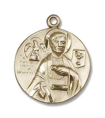 St. John The Apostle Medal - 14K Solid Gold