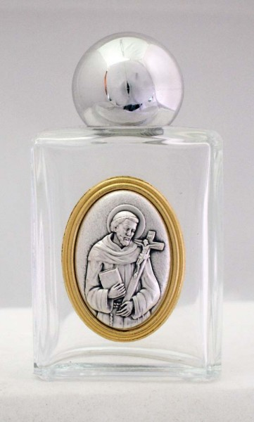 Holy Water Bottle, St. Francis - Gold | Silver