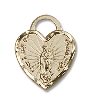 Our Lady of Guadalupe with Heart Medal - 14KT Gold Filled