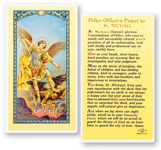 Policeman's Prayer,  St. Michael Laminated Prayer Cards 25 Pack - Full Color