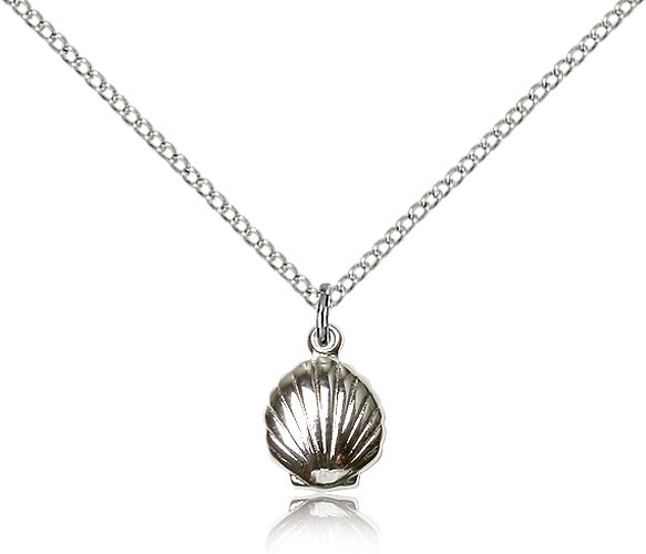 Baby Sized Shell Pendant - Sterling Silver
