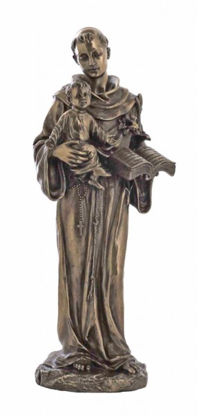 St. Anthony & Child Statue - 10.5 Inches - Bronze