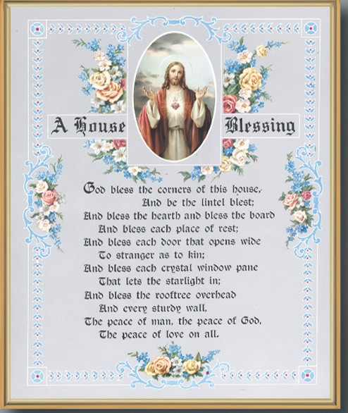 House Blessing Gold Framed Print - Full Color