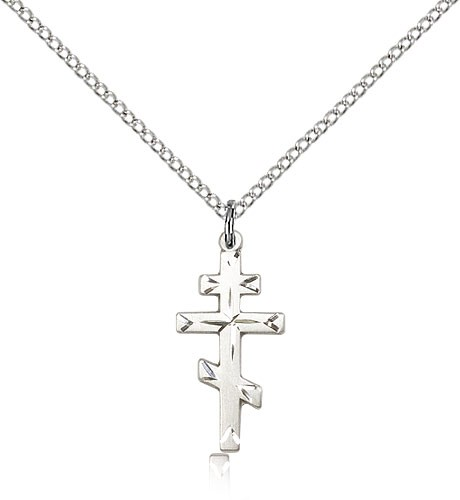 Faceted Saint Andrew's Cross - Sterling Silver