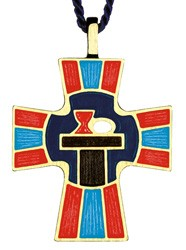 Eucharistic Minister Cross Pendant - Multi-Color