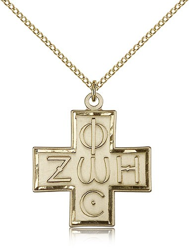 Light & Life Cross Pendant - 14KT Gold Filled