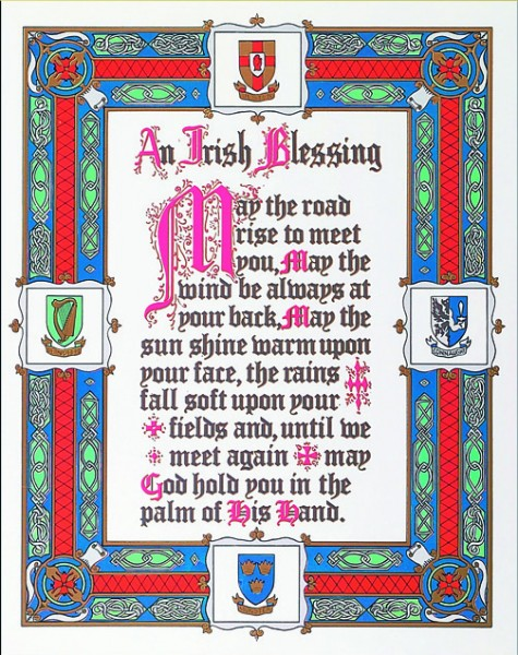 Irish Blessing Print - Sold in 3 per pack - Multi-Color